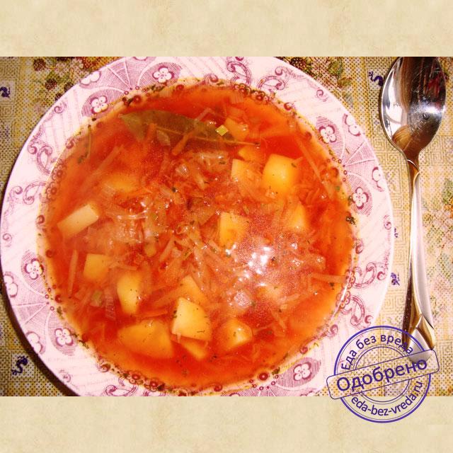 Рецепт красного борща со свеклой и капустой пошаговое