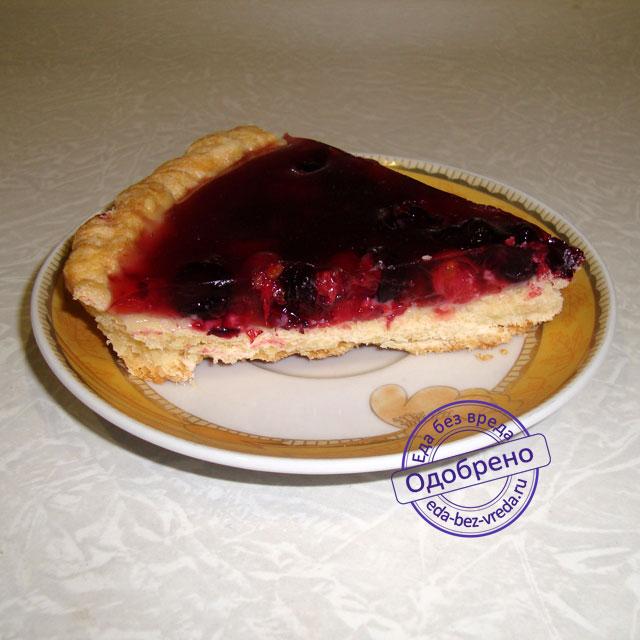 пирог из замороженных ягод с желе рецепт