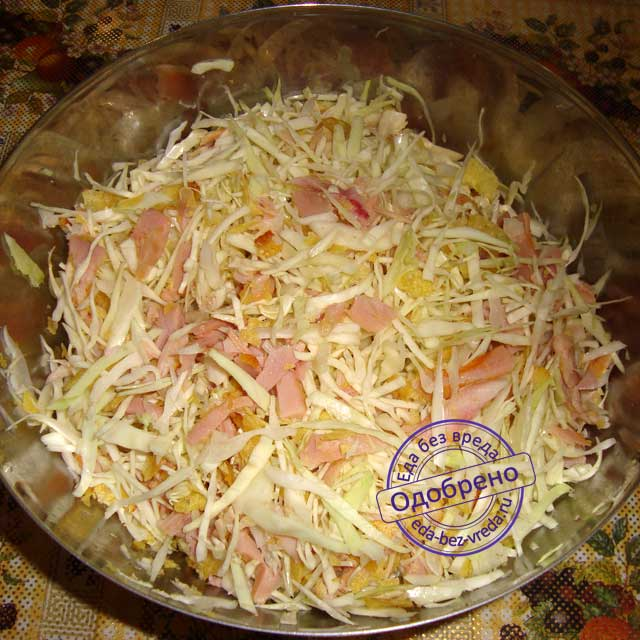 Рецепт салат из копченого окорочка